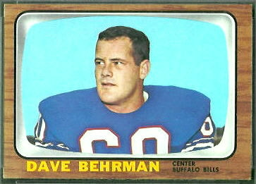 Dave Behrman 1966 Topps football card
