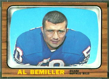 Al Bemiller 1966 Topps football card