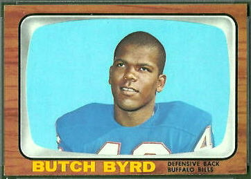 George Byrd 1966 Topps football card