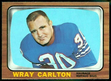 Wray Carlton 1966 Topps football card