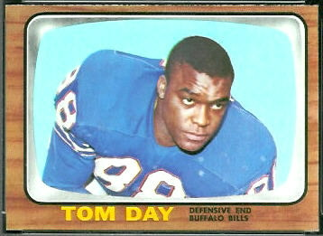 Tom Day 1966 Topps football card