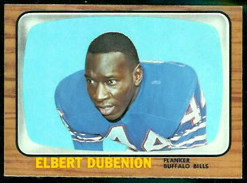 Elbert Dubenion 1966 Topps football card