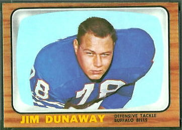 Jim Dunaway 1966 Topps football card