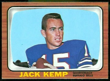 Jack Kemp 1966 Topps football card