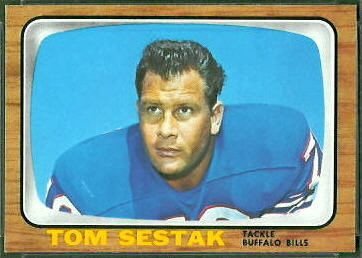 Tom Sestak 1966 Topps football card