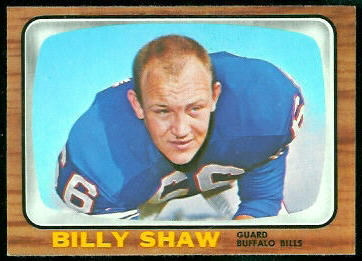 Billy Shaw 1966 Topps football card