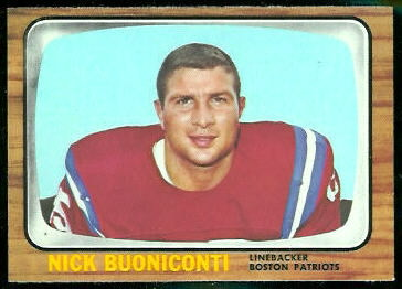 Nick Buoniconti 1966 Topps football card