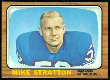 Mike Stratton 1966 Topps football card
