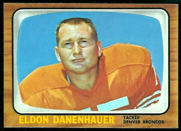 Eldon Danenhauer 1966 Topps football card