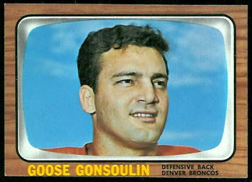 Goose Gonsoulin 1966 Topps football card