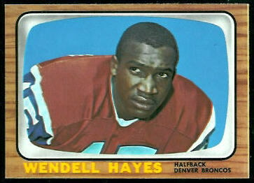 Wendell Hayes 1966 Topps football card