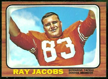 Ray Jacobs 1966 Topps football card