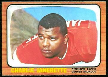 Charlie Janerette 1966 Topps football card