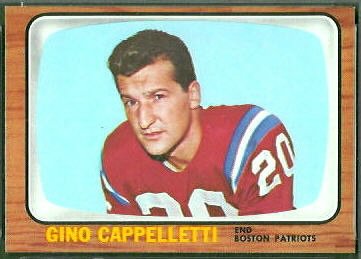 Gino Cappelletti 1966 Topps football card