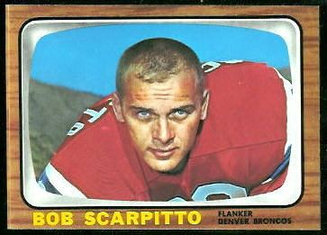 Bob Scarpitto 1966 Topps football card