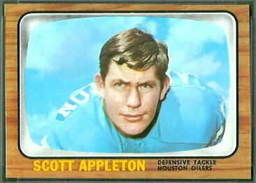 Scott Appleton 1966 Topps football card