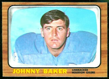 Johnny Baker 1966 Topps football card