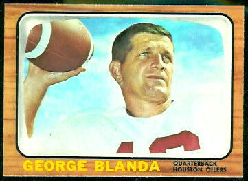 George Blanda 1966 Topps football card