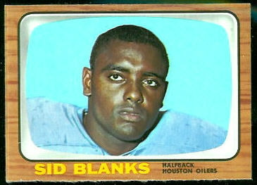 Sid Blanks 1966 Topps football card