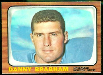 Danny Brabham 1966 Topps football card