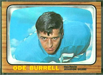 Ode Burrell 1966 Topps football card