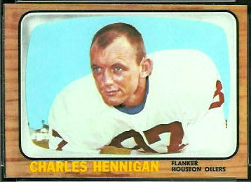 Charlie Hennigan 1966 Topps football card