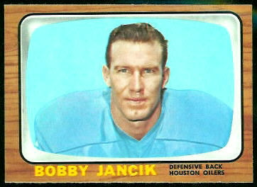 Bobby Jancik 1966 Topps football card