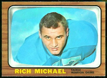 Rich Michael 1966 Topps football card