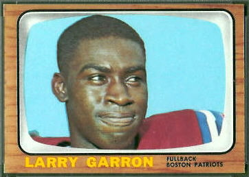 Larry Garron 1966 Topps football card