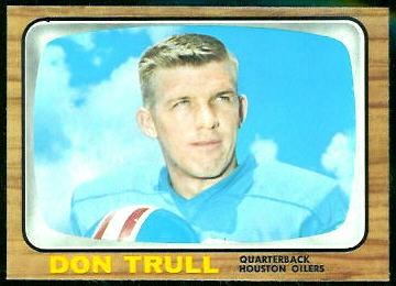 Don Trull 1966 Topps football card