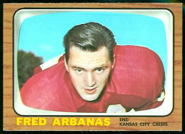 Fred Arbanas 1966 Topps football card