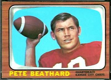 Pete Beathard 1966 Topps football card