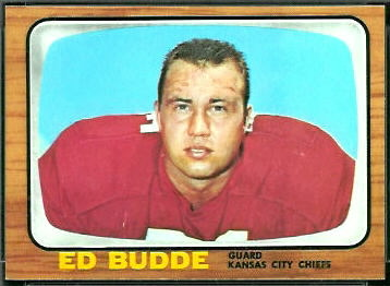 Ed Budde 1966 Topps football card