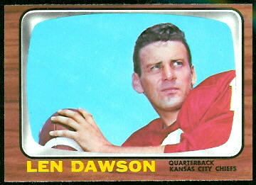Len Dawson 1966 Topps football card