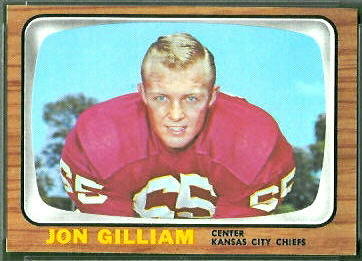 Jon Gilliam 1966 Topps football card