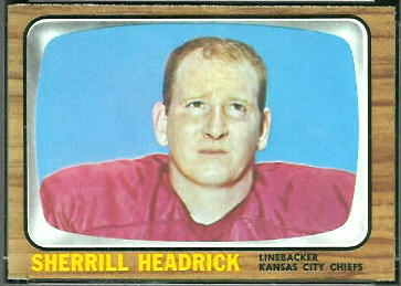 Sherrill Headrick 1966 Topps football card