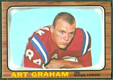 Art Graham 1966 Topps football card