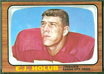 E.J. Holub 1966 Topps football card