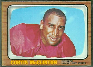 Curtis McClinton 1966 Topps football card