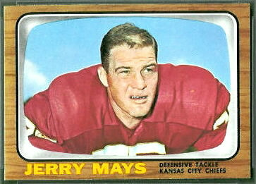 Jerry Mays 1966 Topps football card