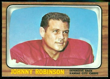 Johnny Robinson 1966 Topps football card