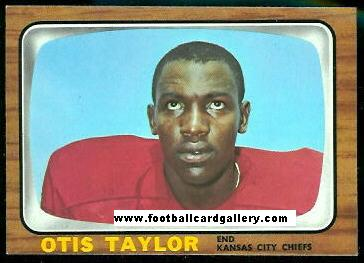 Otis Taylor 1966 Topps football card