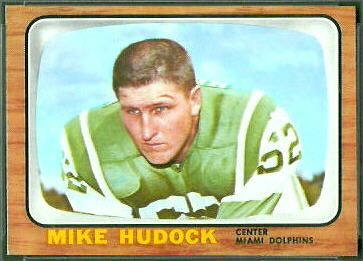 Mike Hudock 1966 Topps football card