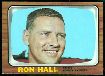 Ron Hall 1966 Topps football card
