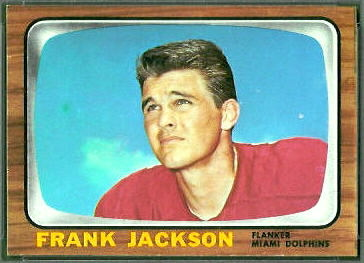 Frank Jackson 1966 Topps football card