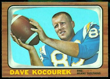 Dave Kocourek 1966 Topps football card