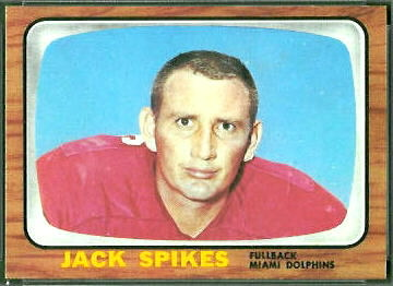 Jack Spikes 1966 Topps football card