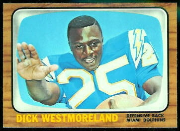 Dick Westmoreland 1966 Topps football card