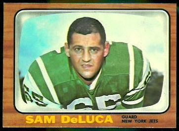 Sam DeLuca 1966 Topps football card