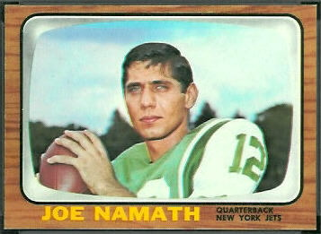 Joe Namath 1966 Topps football card